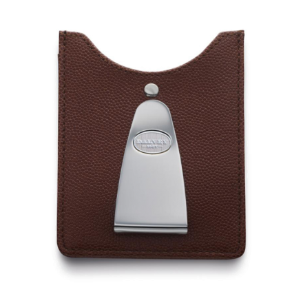 Kreditkartenhalter mit Geldscheinklammer Braun