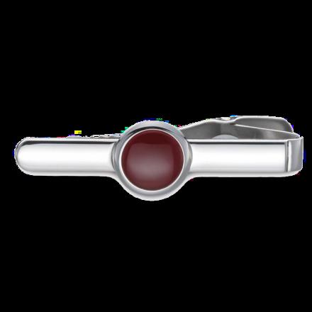 Krawattennadel BUTTON Roter Onyx