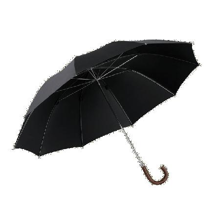 Herrenschirm Metallstock mit Weichsel-Griff