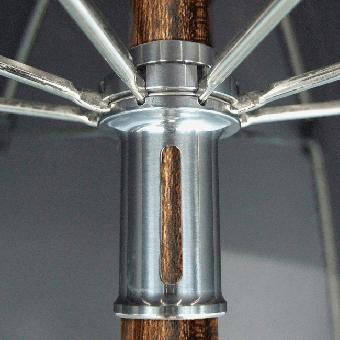 Herrenschirm Holzstock Rüster (Ulme) mit Rüster-Griff