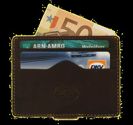 Kartenhalter & Geldklipp Braun